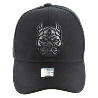 VM569 Pitbull Baseball Hat (Solid Black)