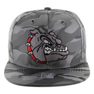 SM558 Bulldog Snapback Cap (Solid Grey Military Camo)