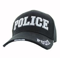 VM036 Police Velcro Cap (Solid Black)
