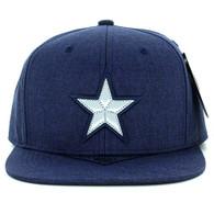 SM9011 Star Snapback Cap Hat (Solid Navy)