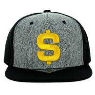 SM9012 Dollar Snapback Cap (Charcoal & Black)