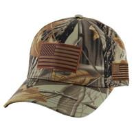 VM019 USA Flag Velcro Cap (Solid Hunting Camo)