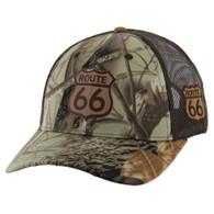 VM019 Route 66 Road Mesh Trucker Cap (Hunting Camo)