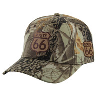 VM019 Route 66 Road Velcro Cap (Solid Hunting Camo)