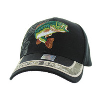 VM008 Kiss My Bass Velcro Cap (Solid Black)