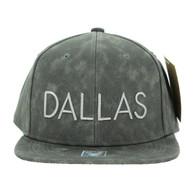 SM800 Dallas PU Snapback (Solid Grey)