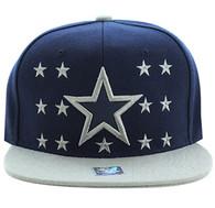 SM492 Big Star Snapback Cap (Navy & Light Grey)