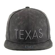 SM800 Texas PU Snapback Cap (Solid Grey)