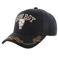 VM090 Cowboy Velcro Cap (Solid Black)