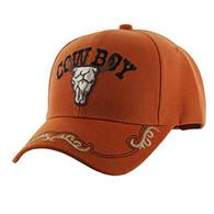 VM090 Cowboy Velcro Cap (Solid Texas Orange)