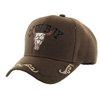 VM090 Cowboy Velcro Cap (Solid Brown)