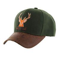 VM121 Deer Hunter Velcro Cap (Solid Olive)