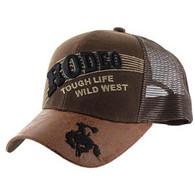 VM170 Rodeo Mesh Trucker Cap (Solid Brown)