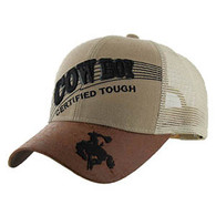 VM170 Cowboy Mesh Trucker Cap (Solid Khaki)