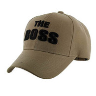 VM192 The Boss Velcro Cap (Solid Khaki)