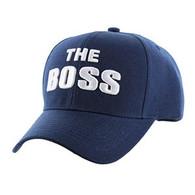 VM192 The Boss Velcro Cap (Solid Navy)