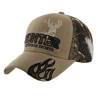 VM361 Hunter Outdoor Sports Velcro Cap (Khaki & Hunting Camo)