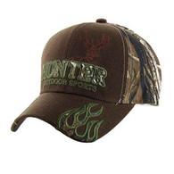 VM361 Hunter Outdoor Sports Velcro Cap (Brown & Hunting Camo)
