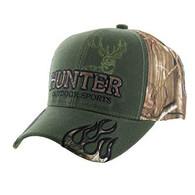 VM361 Hunter Outdoor Sports Velcro Cap (Olive & Hunting Camo)