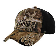VM361 Hunter Outdoor Sports Velcro Cap (Hunting Camo & Black)