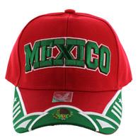 VM421 Mexico Velcro Cap (Red & Kelly Green)