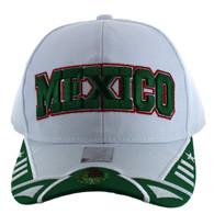 VM421 Mexico Velcro Cap (White & Kelly Green)