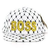SM093 Boss Snapback (Solid White)