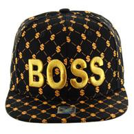 SM093 Boss Snapback (Solid Black)
