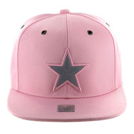 SM100 Star Snapback Cap (Solid Light Pink)