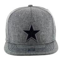 SM9011 Star Snapback Cap Hat (Solid Grey)