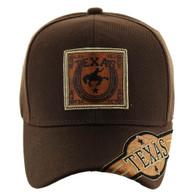 VM110 Texas Velcro Cap (Solid Brown)