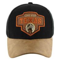 VM644 Texas Cotton Velcro Cap (Black & Brown)