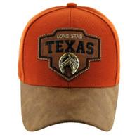 VM644 Texas Cotton Velcro Cap (Texas Orange & Brown)