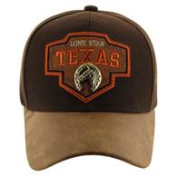 VM644 Texas Cotton Velcro Cap (Brown & Brown)