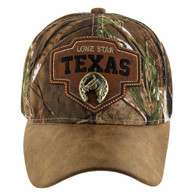 VM644 Texas Cotton Velcro Cap (Hunting Camo & Brown)