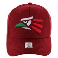 VM9011 Hecho En Mexico Baseball Velcro Cap (Solid Red)