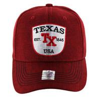 VM9011 Texas Baseball Velcro Cap (Solid Red)