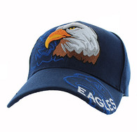 VM129 For Kids American USA Eagle Velcro Cap (Solid Navy)