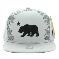 SM021 Cali Bear Snapback Cap (Solid Grey)