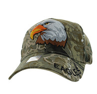 VM129 For Kids American USA Eagle Velcro Cap (Solid Hunting Camo)