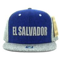 SM9012 El Salvador Snapback Cap (Royal & Grey)
