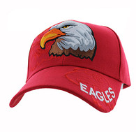 VM129 For Kids American USA Eagle Velcro Cap (Solid Red)