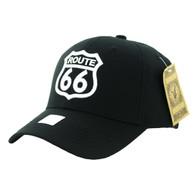 VM9011 Route 66 Road Velcro Cap (Solid Black)