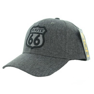 VM9011 Route 66 Road Velcro Cap (Solid Charcoal)