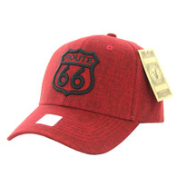 VM9011 Route 66 Road Velcro Cap (Solid Red)