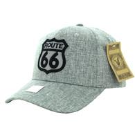 VM9011 Route 66 Road Velcro Cap (Solid Grey)