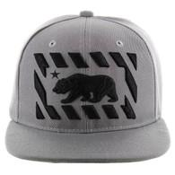 SM141 Cali Bear Snapback Cap (Solid Grey)