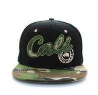 "SM486 ""Cali"" Snapback (Black & Military Camo)"