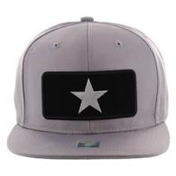 SM250 Star Snapback Cap (Solid Grey) - Silver Metal