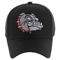VM558 Bulldog Baseball Velcro Cap (Solid Black)